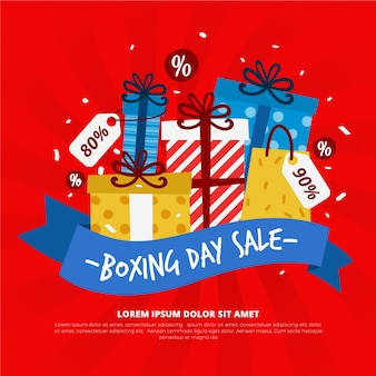 Hand drawn boxing day sale concept