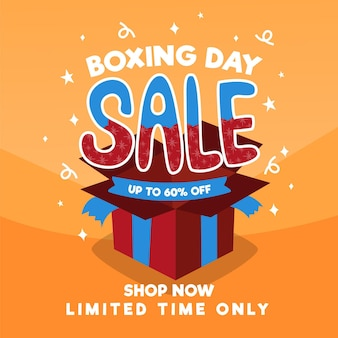 Hand drawn boxing day sale