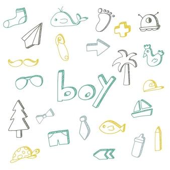 Hand drawn boy illustrations