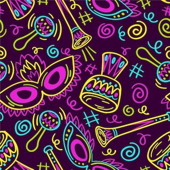 Ручной обращается бразильский карнавальный узор