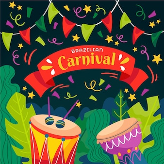 Hand drawn brazilian carnival