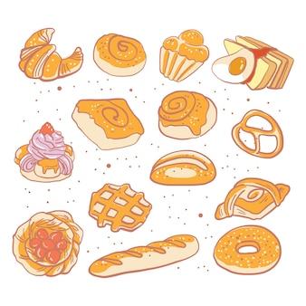 Hand drawn bread vector illustration