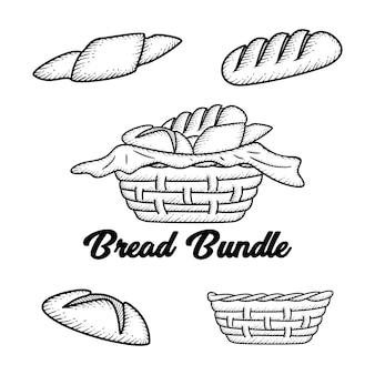Hand drawn bread
