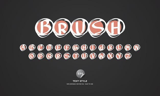 Hand drawn brush text style