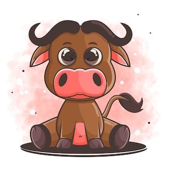 Ручной обращается мультфильм буйвола