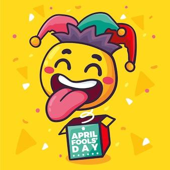 Hand drawn buffoon april fools' day