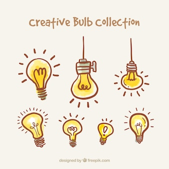 Hand drawn bulbs collection