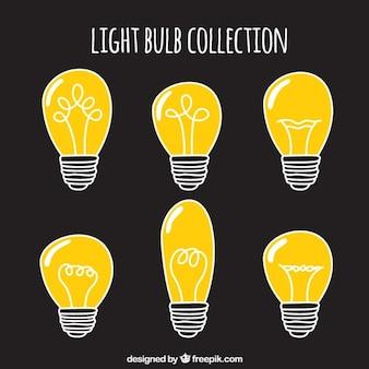 Hand drawn bulbs collection