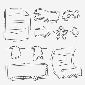 Hand drawnbullet journal elements