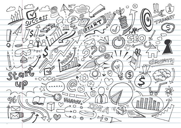 Hand drawn business background