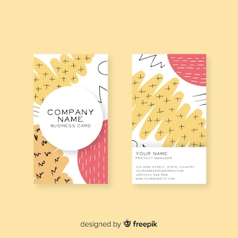 Hand drawn business card template