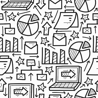 Ручной обращается бизнес мультфильм каракули милый рисунок узор дизайн