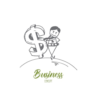 Hand drawn business concept sketch