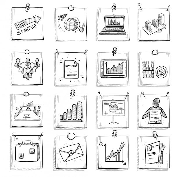 Рука нарисованные бизнес-концепция