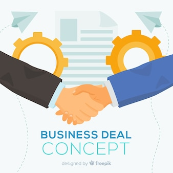 Hand drawn business deal background