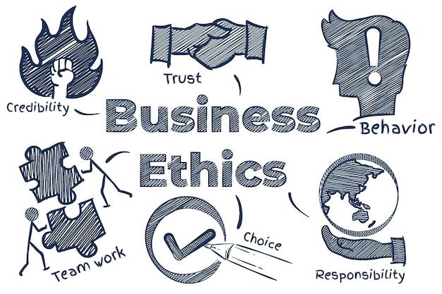Нарисованная от руки иллюстрация деловой этики