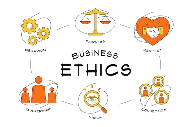 Hand drawn business ethics