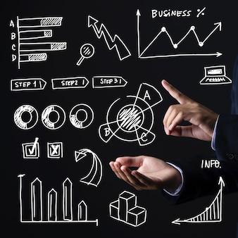 手描きビジネスインフォグラフィック
