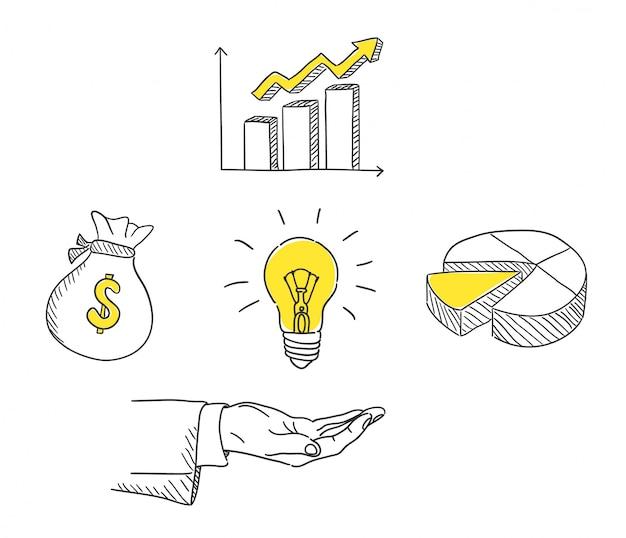 Нарисованная рукой иллюстрация бизнес-маркетинга