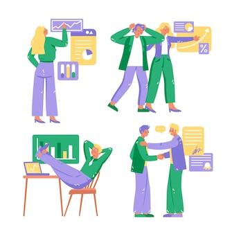 手描きの起業要素コレクション