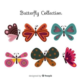 손으로 그린 나비 컬렉션