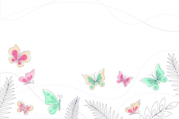 손으로 그린 나비 개요 배경