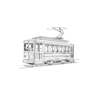 Hand drawn cable car