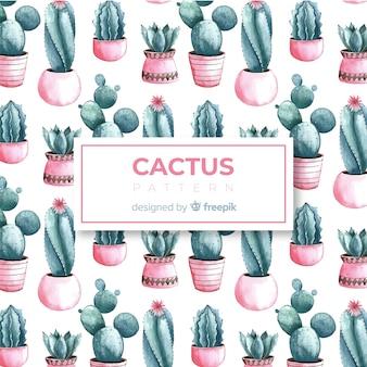 Hand drawn cactus pattern