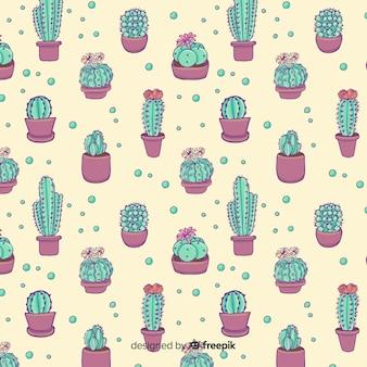 Modello di cactus disegnato a mano