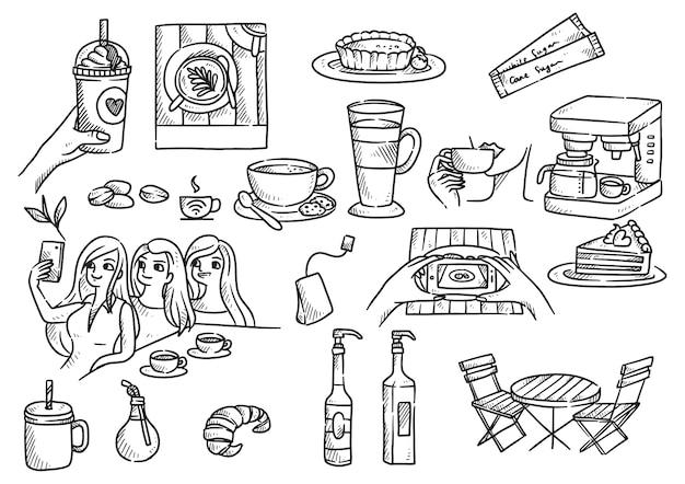 Предмет, связанный с рисованной кафе