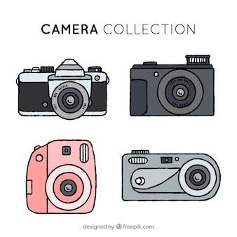 Collezione di fotocamera disegnata a mano