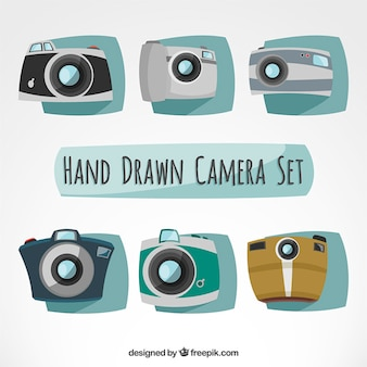 Hand drawn camera set