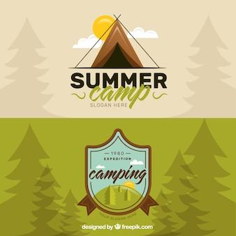 Hand drawn campsite logos