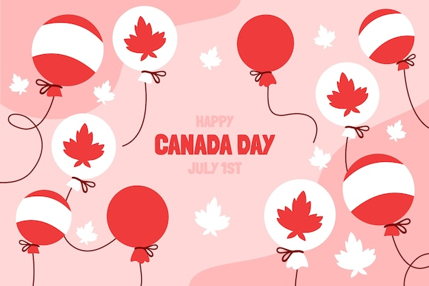 Ручной обращается день канады воздушные шары фон