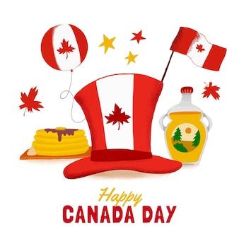 Нарисованная рукой иллюстрация празднования дня канады