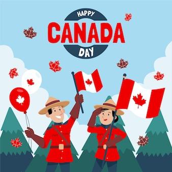 손으로 그린 캐나다 하루 그림