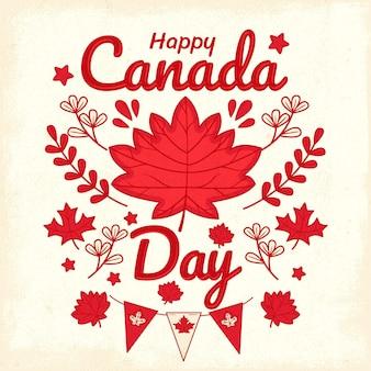 Нарисованная рукой иллюстрация дня канады