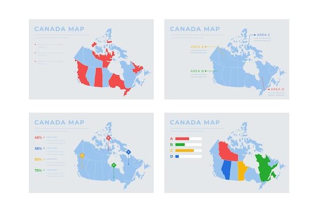 Рисованная карта канады инфографики