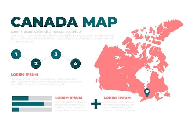 Disegnata a mano canada mappa infografica