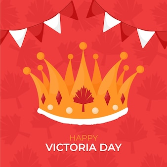 Hand drawn canadian victoria day illustration