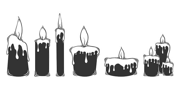 Коллекция рисованной свечи