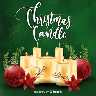 Hand drawn candles background