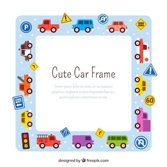 Hand drawn car frame background