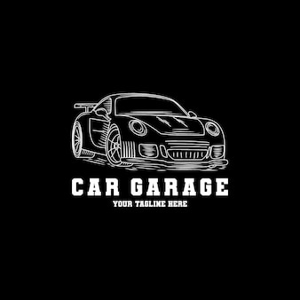 Hand drawn car garage logo design