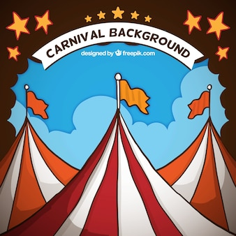 Hand drawn carnival background