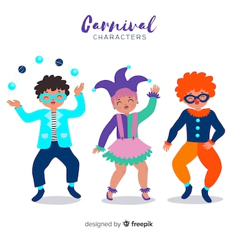 Hand drawn carnival characters