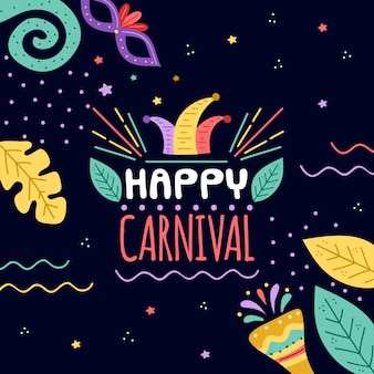 Hand drawn carnival concept with greeting