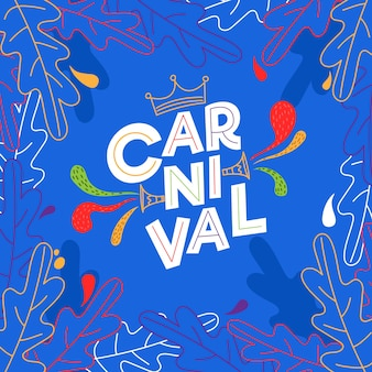 Hand drawn carnival concept