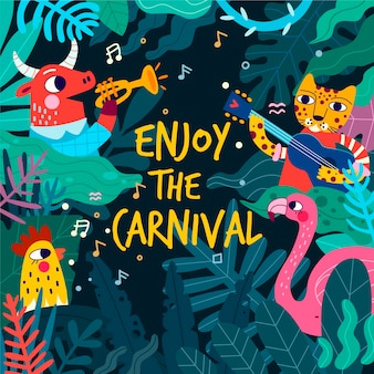 Hand-drawn carnival party day