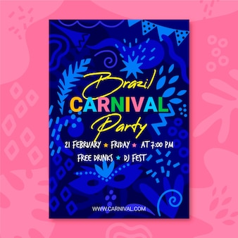 Hand drawn carnival party flyer